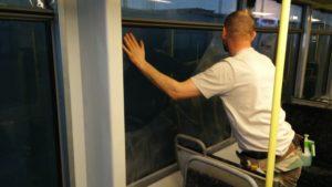 foliowanie szyb tramwaj